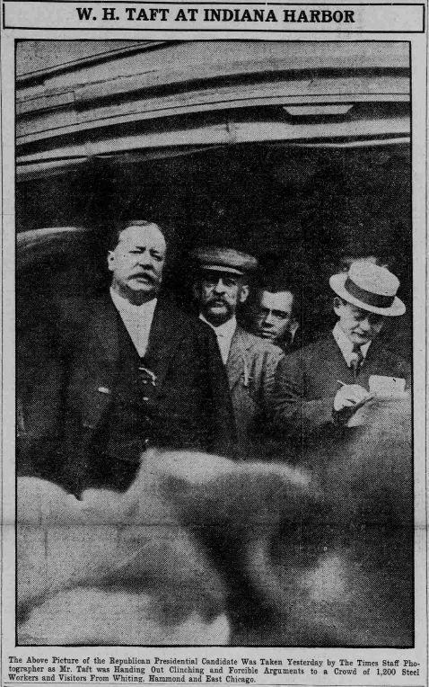 William Howard Taft in East Chicago