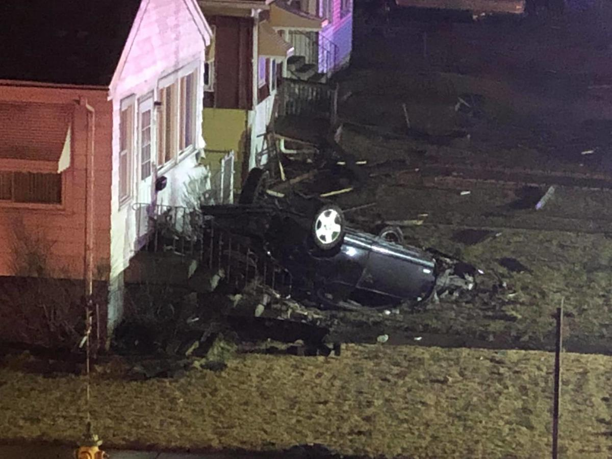 UPDATE: Vehicle flips onto porch during deadly police chase in