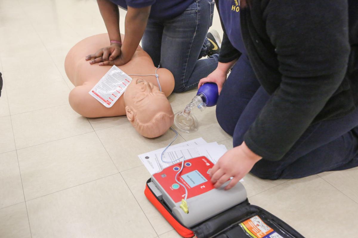 Hobart High School EMT class