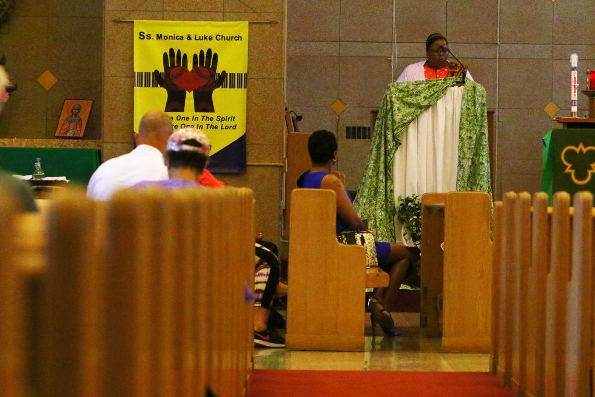 Mass at Ss. Monica and Luke Parish in Gary