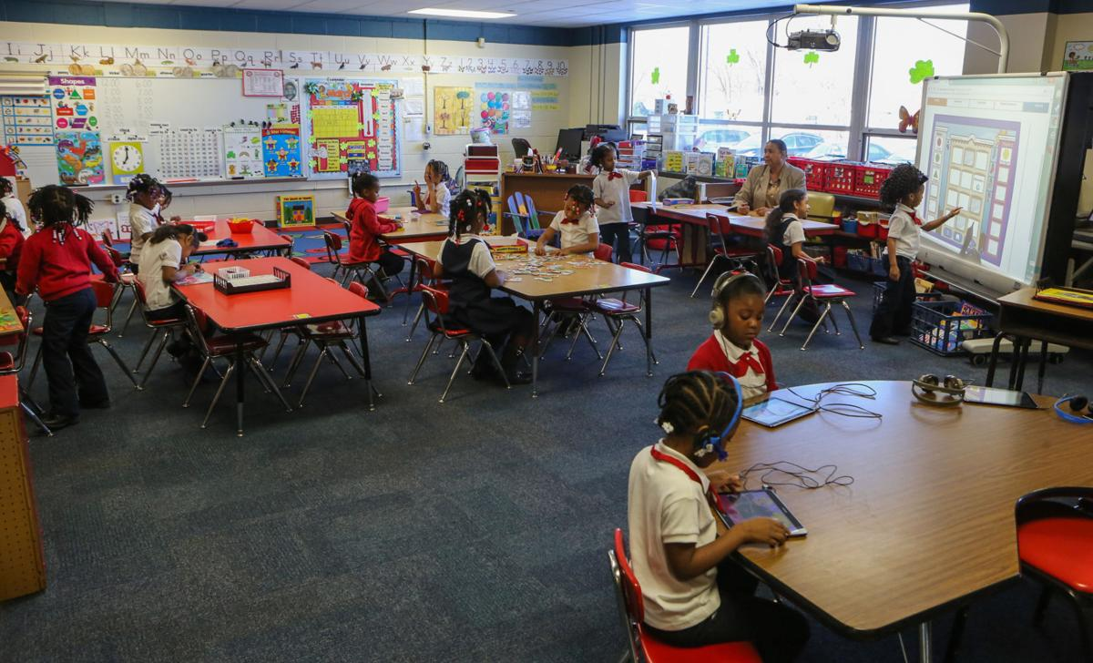 Kindergarten classroom at Frankie Woods McCullough Academy for Girls