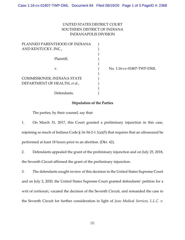 PPINK v. Box stipulation and agreed order