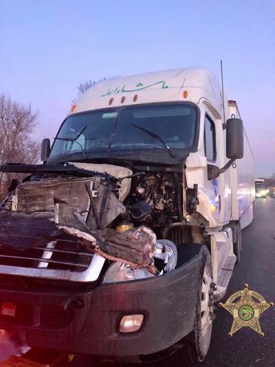 Semi crash causes lane blockage at U.S. 20; police investigation underway