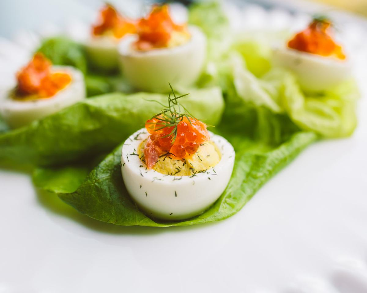 Midwestern Smoked Trout Deviled Eggs