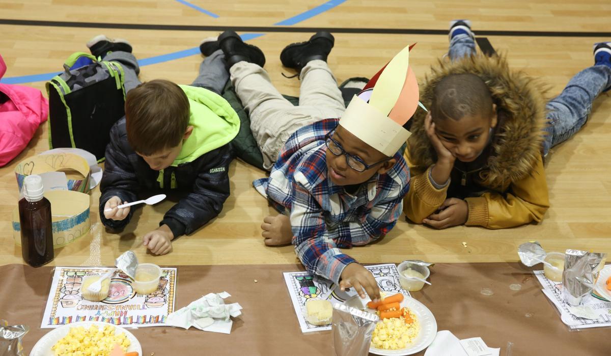 Thanksgiving feast at Salk Elementary School