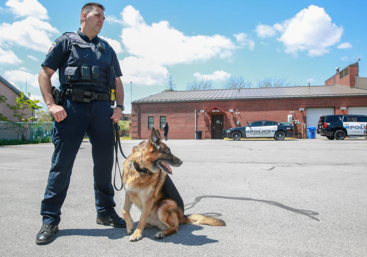 Crown Point K-9 Radar will be retiring from his patrol duties this summer.