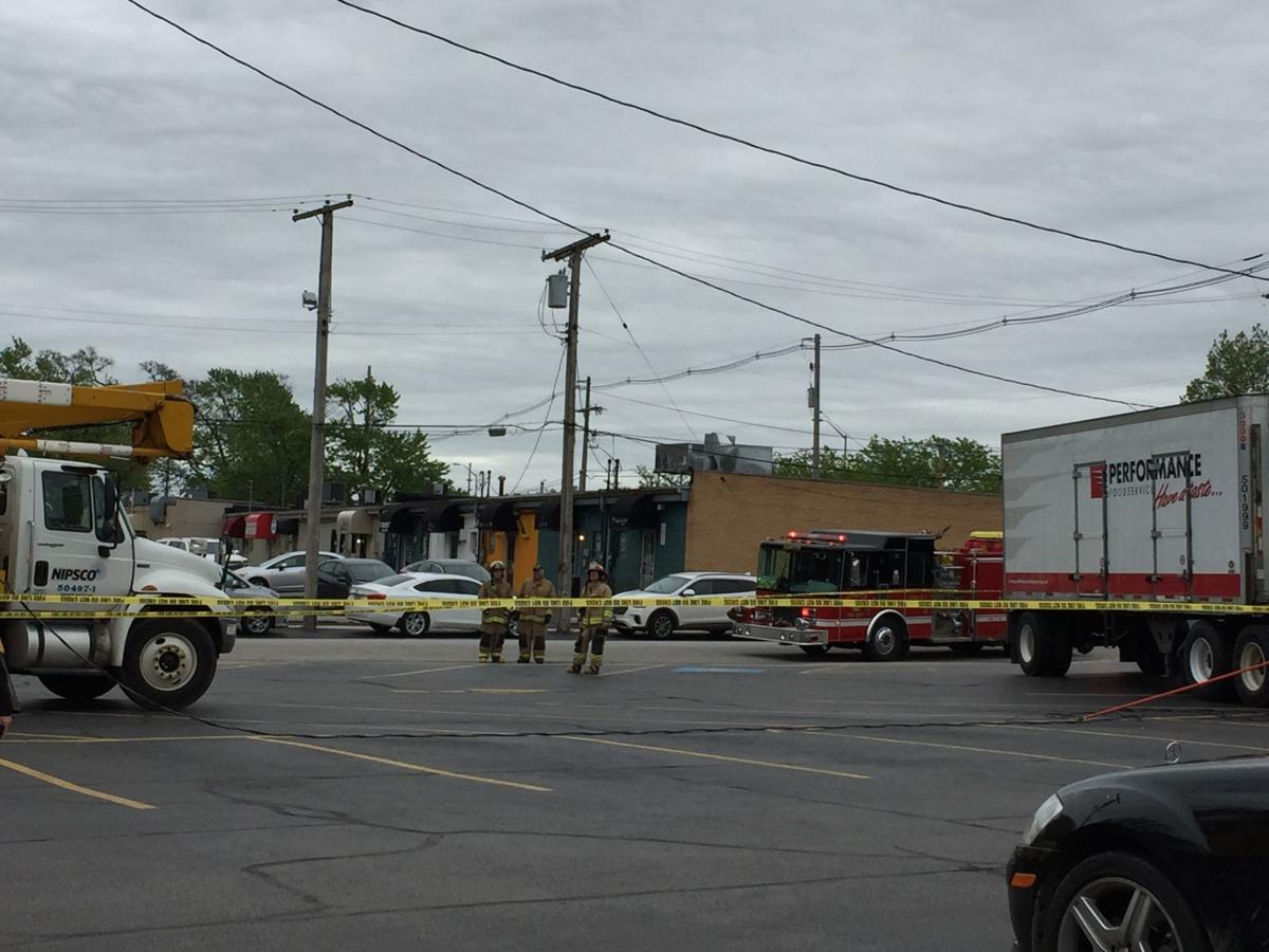 Food delivery truck knocks down power line, shutting down restaurant