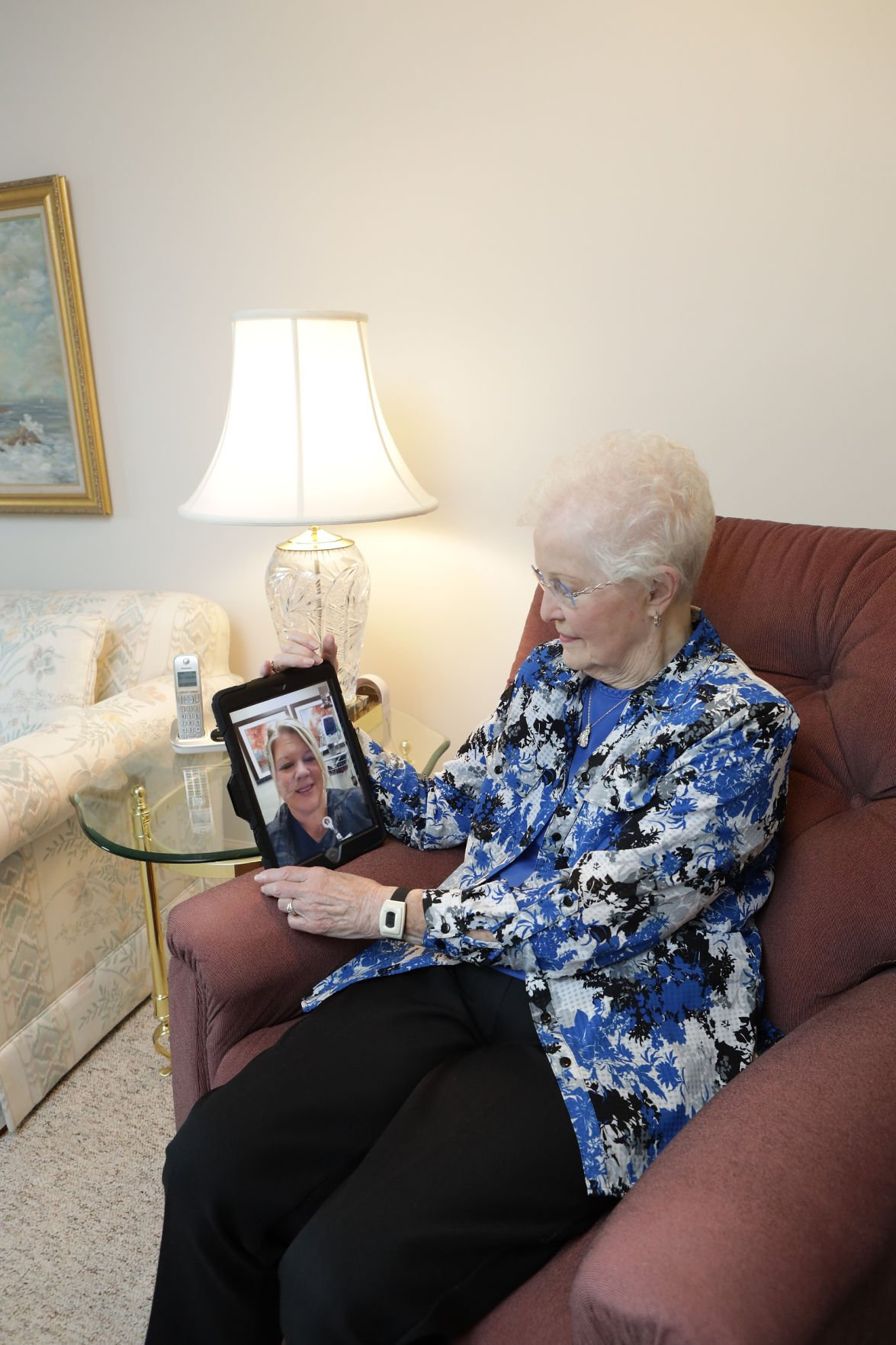 Virtual visits add convenience while keeping care real for senior living residents