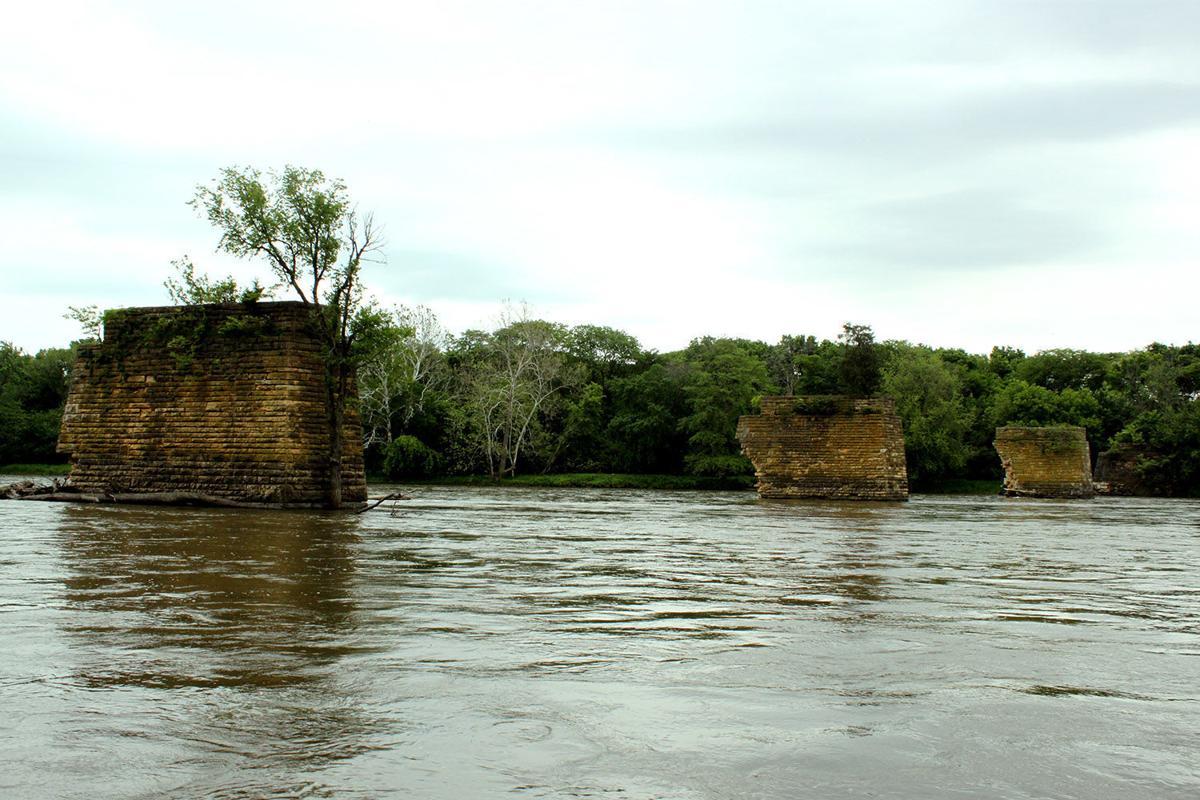 Big river bridge abutments