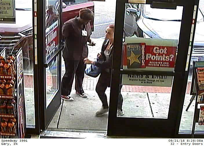 Gary police seek tips about pair accused of repeatedly stealing several tote bags of Red Bull drinks