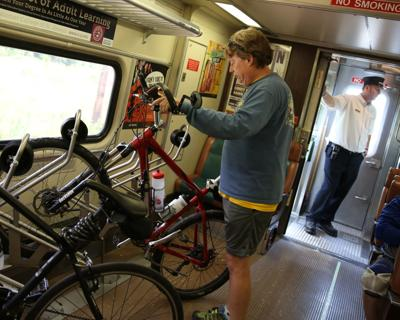 South Shore Line will let bikes back on its trains in April