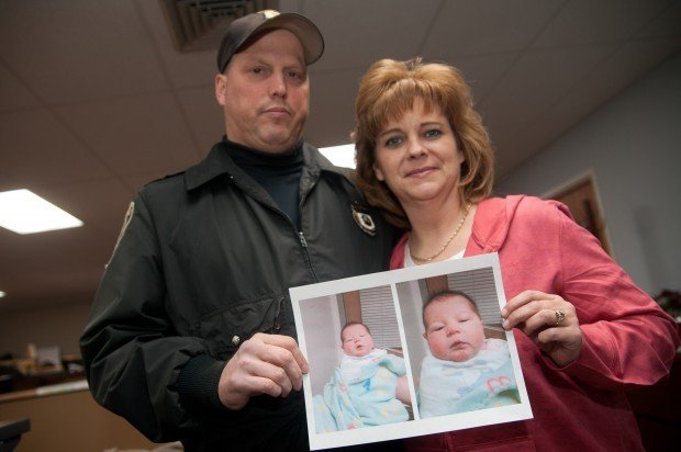 Abandoned newborn girl is found on steps of M'ville cop's home