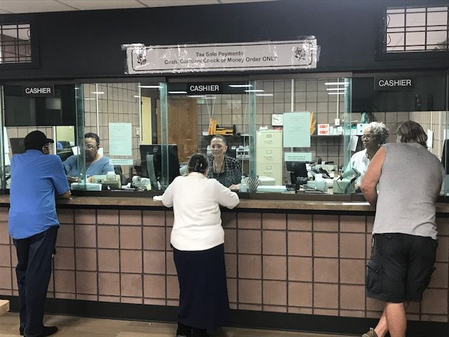 Taxpayers bellying up to the Lake County Treasurer's cashier window