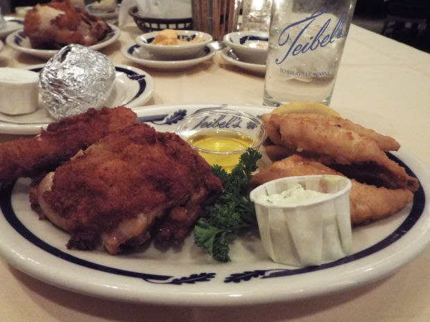 Teibel's chicken and perch