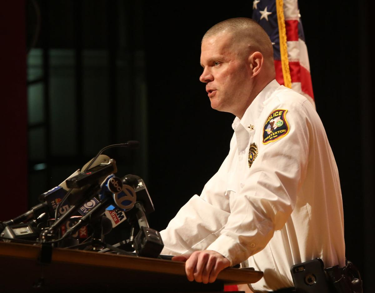 Chesterton police host press conference