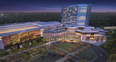 Land-based Gary casino rendering