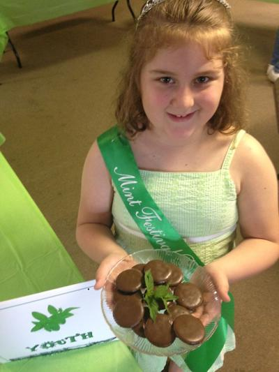 Jorja Prater, 7, of North Judson, the 2015 Mint Festival Princess