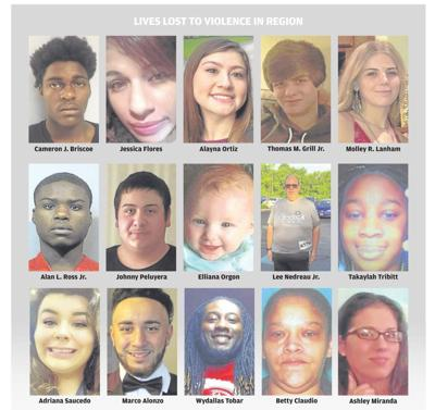 Sunday Front page images of homicide victims
