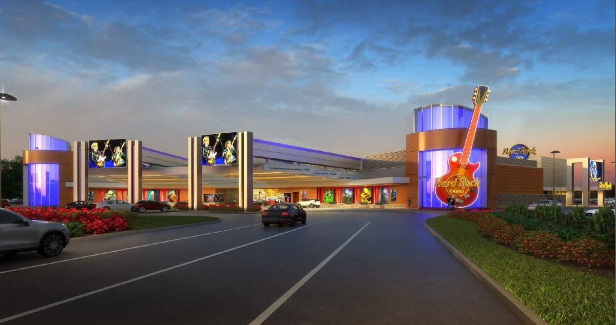 Main entrance to Hard Rock Casino Gary