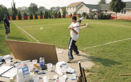 Backyard Baseball Fields field of dreams sprouts in chesterton back yard | local news