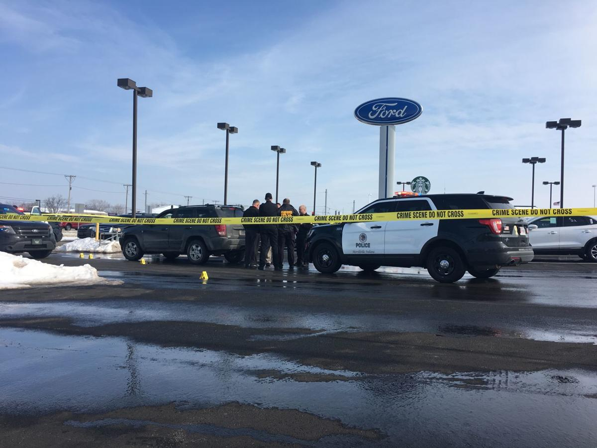 Officer involved in shooting at Merrillvillle car dealership