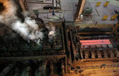 U.S. steel production up 0.4 percent