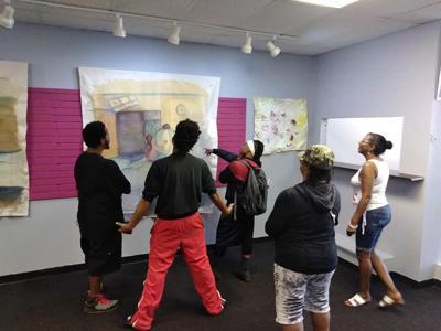 BESS Art Exposure showing exhibit by Merrillville artist
