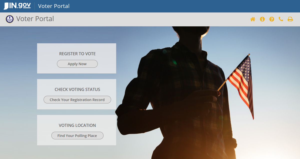 IndianaVoters.com homepage