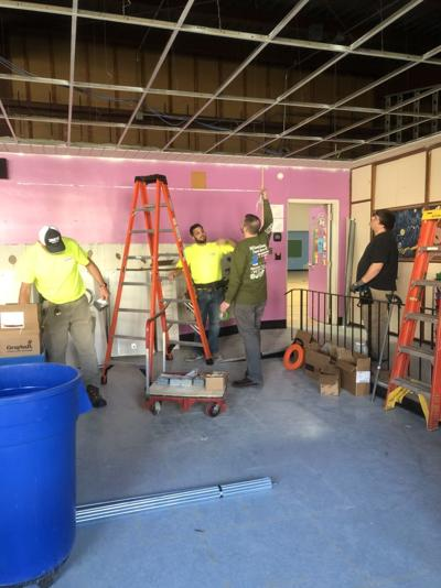 Volunteers renovate Boys & Girls Club game room in Lake Station