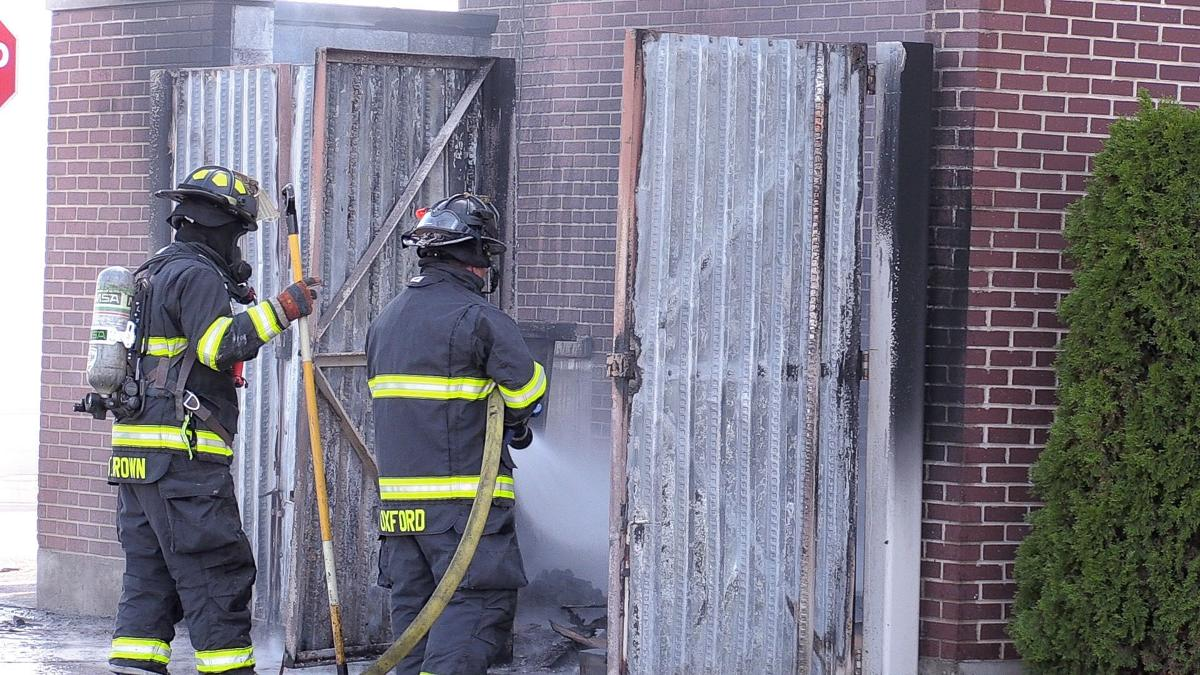Q BBQ Evacuated after dumpster catches fire