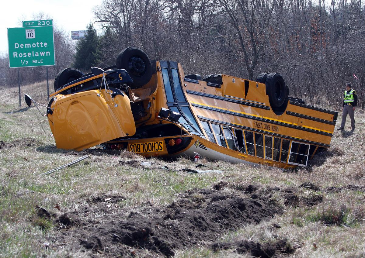 Griffith player bus crashes