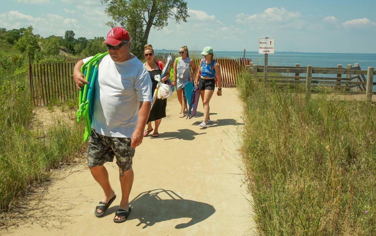 Lake Michigan beach erosion
