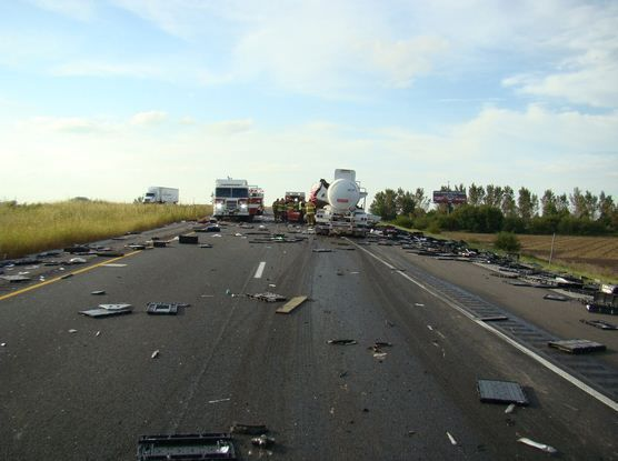 Semi driver airlifted, two others taken to hospitals after I-65 crash