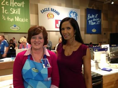46th Annual Pillsbury Bake-Off Finalist Julie Beckwith with 'Top Chef' Host Padma Lakshmi