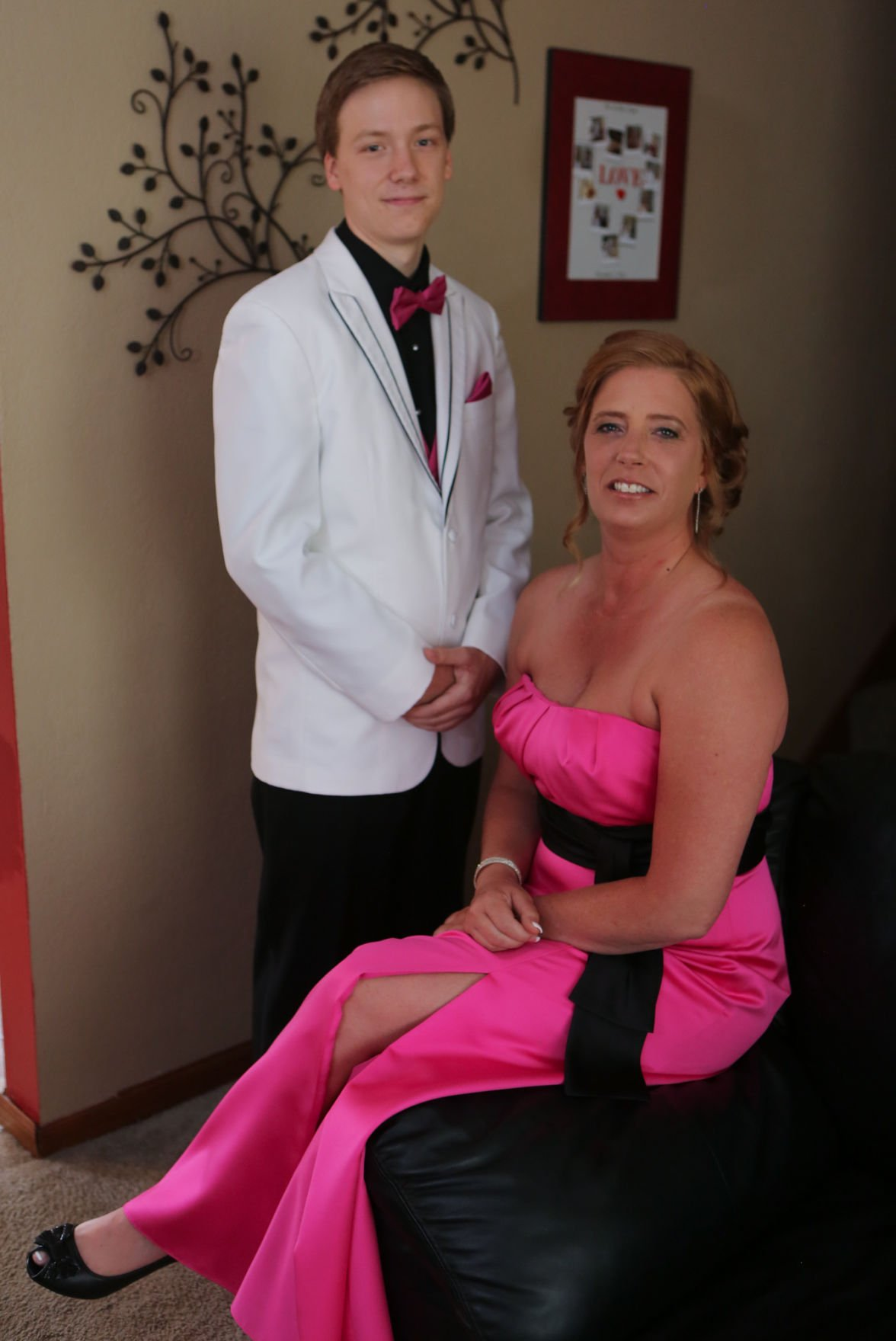 Mom gets ready to be son's date for high school prom