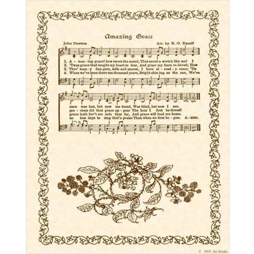 "Amazing Grace Lyrics And Sheet Music: Vintage ""Amazing Grace"" Sheet Music By John Newton"