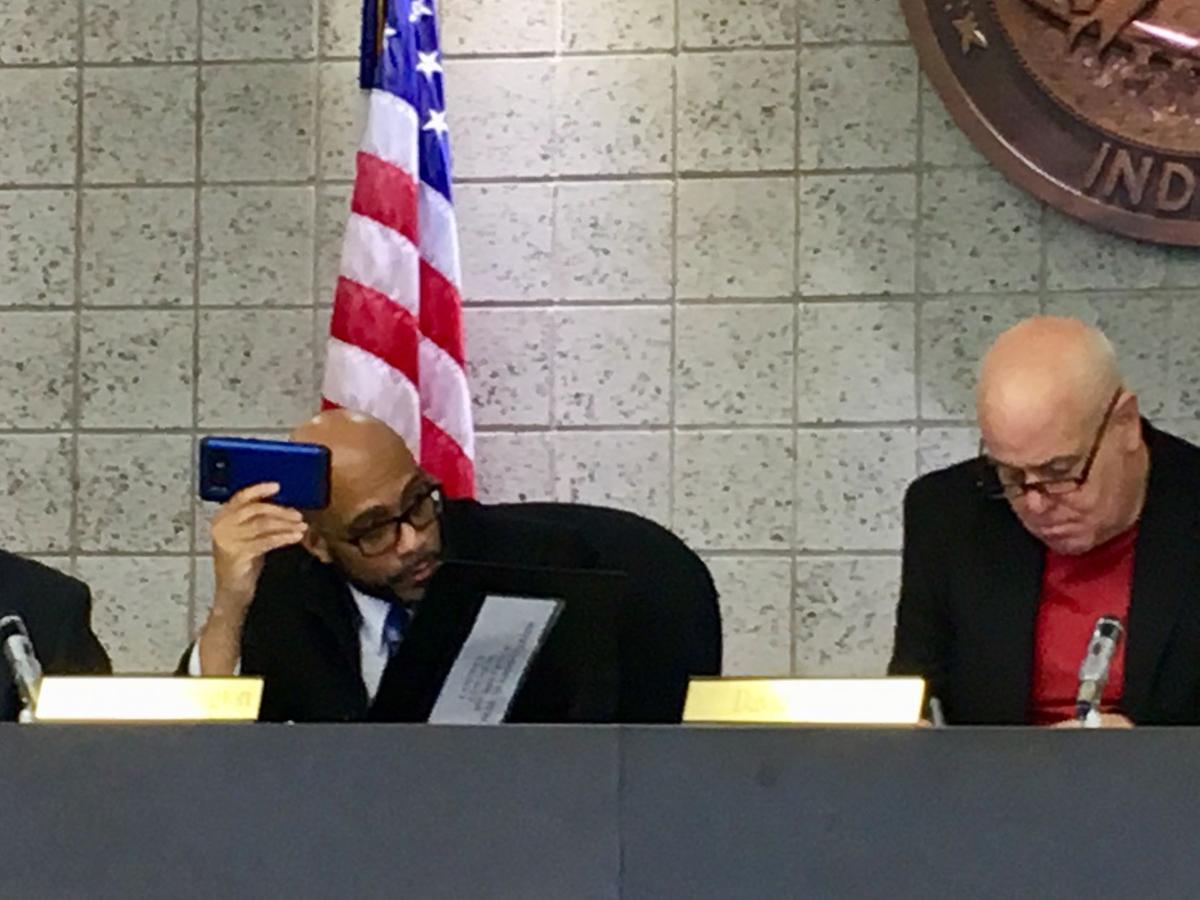 Jamal Washington with cellphone