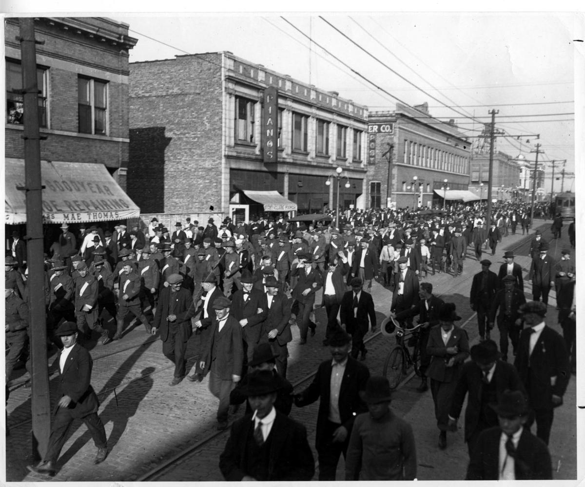 A century ago, Army troops marched in downtown Gary during a strike that helped end the 12-hour workday