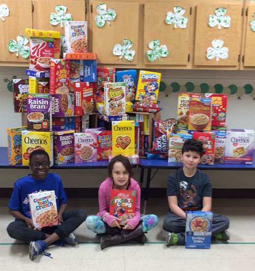 Montessori Children's Schoolhouse students helping their community