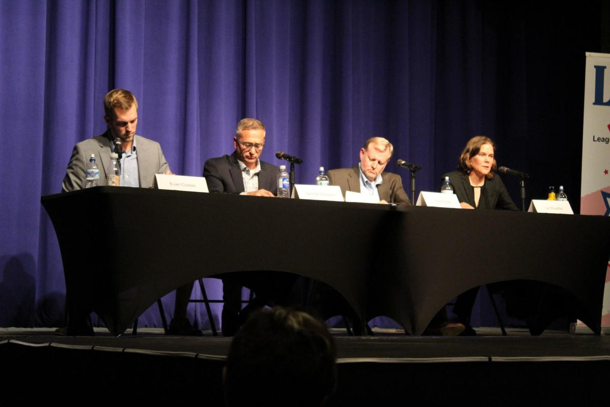 Candidates debate for at-large council position