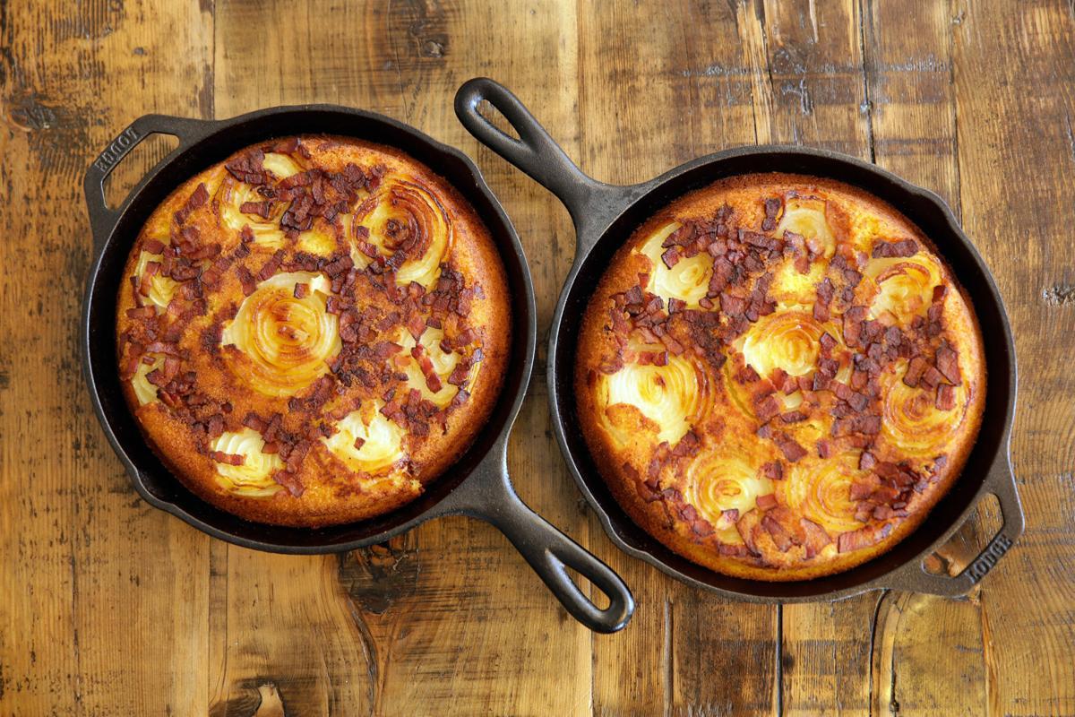 Food-American Table Onion Corn Bread