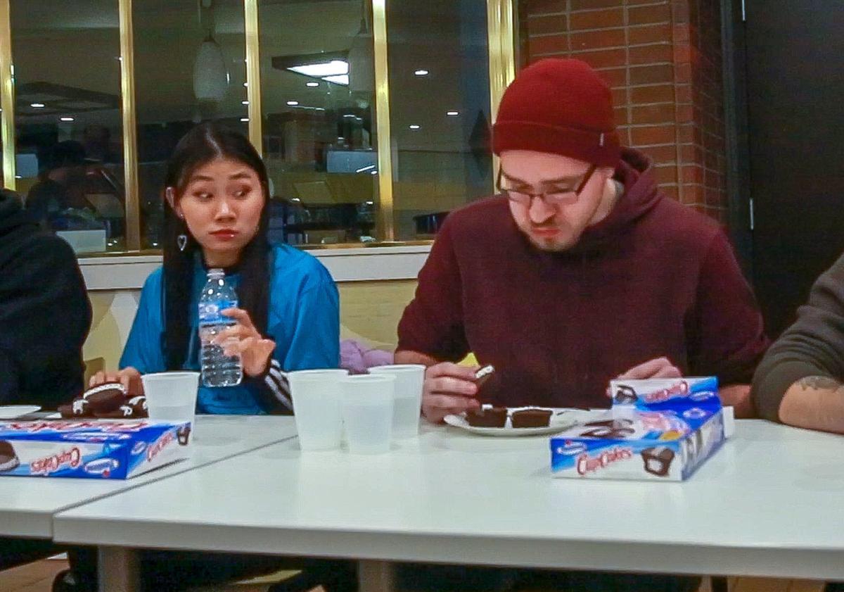 Hostess CupCake eating-contest