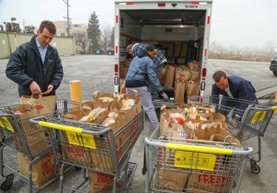 Strack & Van Til is giving North Township 100 bags of food (copy)