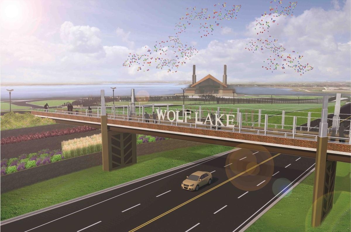 Wolf Lake Memorial Park Pedestrian Bridge
