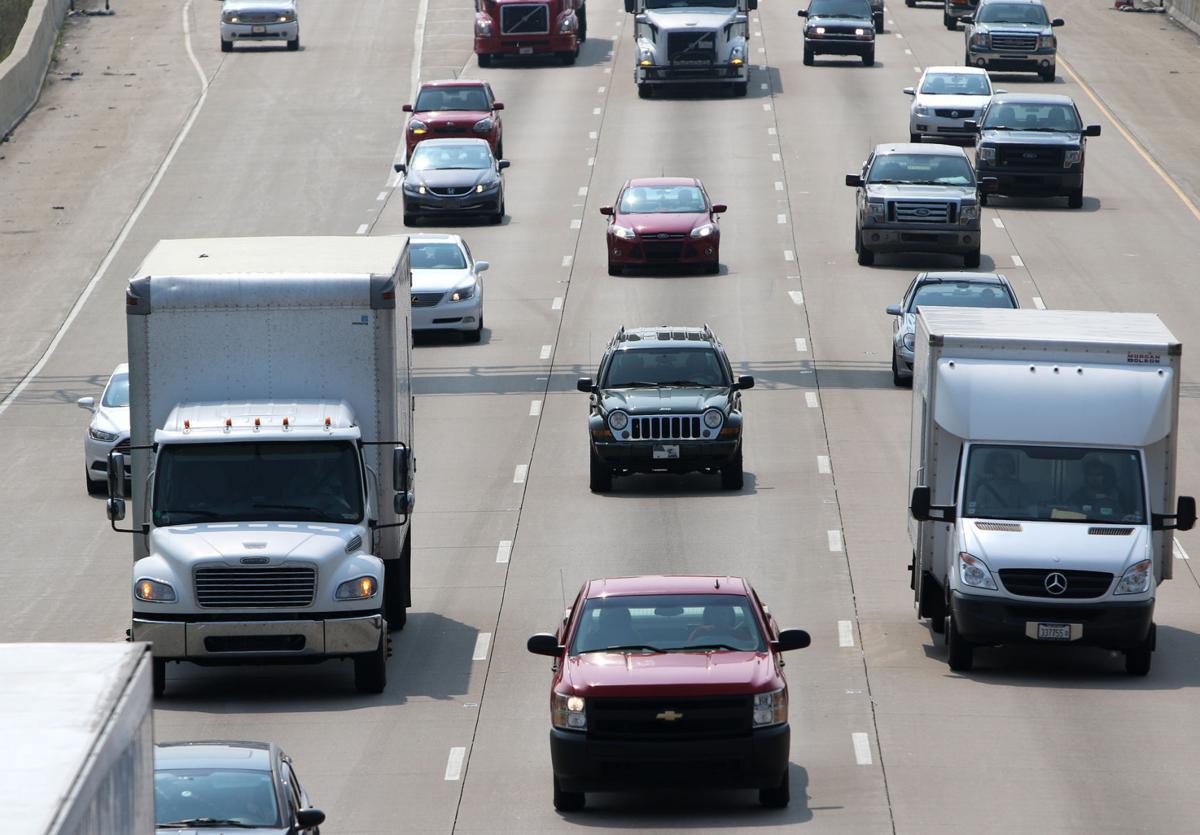Traffic travels along the Borman Expressway