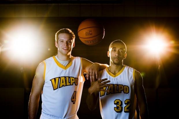 wood johnson vu men s basketball s 1 2 punch valparaiso