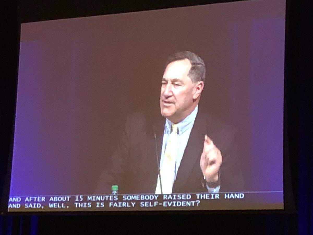 Joe Donnelly at Democratic state convention