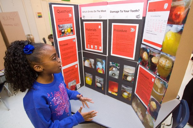 Saylor Elementary students present science projects ...