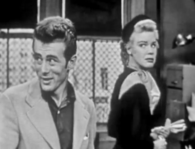 """Hollywood Hoosiers James Dean and Betsy Palmer in CBS Early Live TV Series """"Studio One"""" in 1953"""