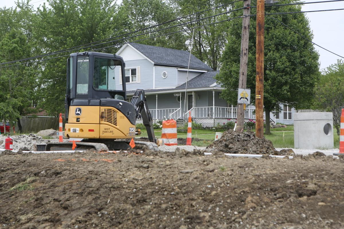 Burr Street construction in June 2020